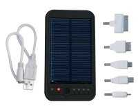 Solární záložní nabíječka s akumulátorem Powerbanka 5000 mAh; 5V/ 5,5V/ 9V/ 12V, LED svítilna