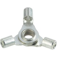 Křížové oko Vogt Verbindungstechnik 3520a3 3520a3, průřez 2.50 mm², průměr otvoru 4 mm, bez izolace, kov, 1 ks