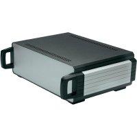 Stolní pouzdro hliníkové Axxatronic 31110005-CON, (d x š x v) 300 x 220 x 100 mm, antracitová