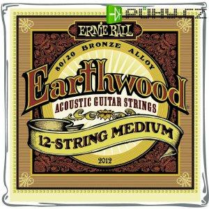 Struny na 12-strunou kytaru Ernie Ball Earthwood Bronze Medium, 011 - 052
