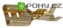 Faston-zdířka 6,3mm,kabel do 1,5mm2,tloušťka 0,5mm