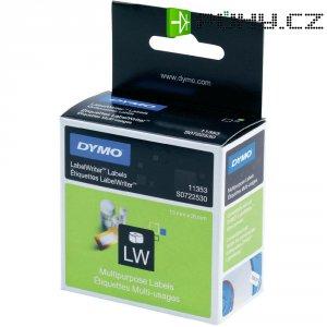 Páska do štítkovače Dymo LW, Typ 11353, S0722530, bílá/černá, 25 x 13 mm, 1000 ks