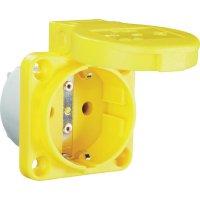 Zásuvka se sklopným víkem PCE för Maskin 601.450.05, IP54, žlutá