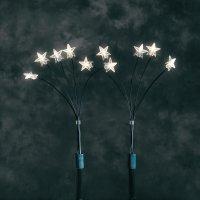 Vánoční venkovní osvětlení Konstsmide, 5 stonků s 25 LEDhvězdiček