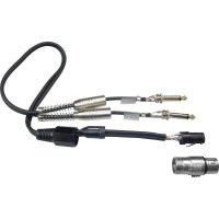 Dvojitý kabel 2x jack (M) 6,3 mm / 1x XLR (F), 0,6 m