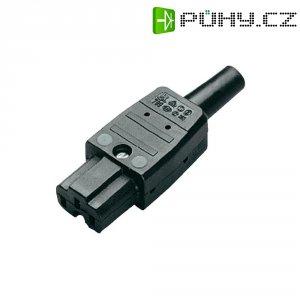 Síťová IEC zásuvka C15A Kaiser, 250 V, 10 A, černá, 789/sw/C