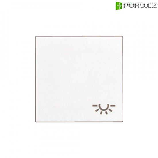 Krytka vypínače se symbolem světla Jung, A590LWW, bílá - Kliknutím na obrázek zavřete
