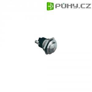 Tlačítko antivandal bez aretace Bulgin MP0037/2, 50 V, 1 A, nerezová ocel, 1x vyp/(zap)