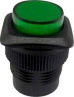 Tlačítkový spínač R13-508B-05 zelený
