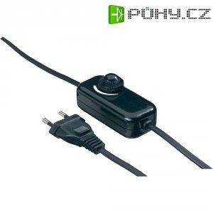 Kabelový stmívač otočný, 230 V/AC, 40 - 200 W, černá