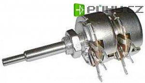 1M0/V TP286 32A, potenciometr otočný dvojitý