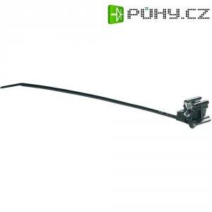 Stahovací pásek 160 x 3,5 mm se sponou, černý, HellermannTyton CBT30MR