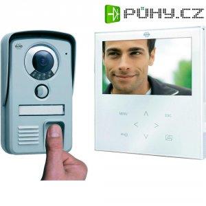 Domácí videotelefon Elro, VD71F, 1 rodina, bílá/hliník