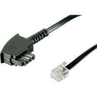 TAE, RJ11 telefonní kabel 922662, 3 m, černá