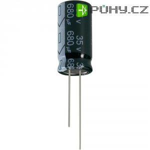 Kondenzátor elektrolytický Jianghai ECR1HGC221MFF501025, 220 µF, 50 V, 20 %, 25 x 10 mm