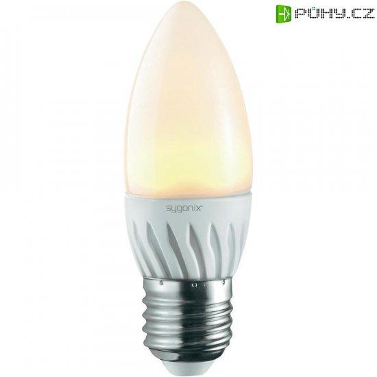 LED žárovka Sygonix, E27, 3 W, 230 V, 106 mm, teplá bílá - Kliknutím na obrázek zavřete