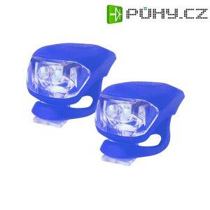 Svítilna na kolo silikonová sada - modrá