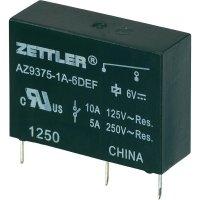 Miniaturní výkonové relé 10 A Zettler Electronics AZ9375-1A-9DEF, 10 A , 30 V/DC/277 V/AC