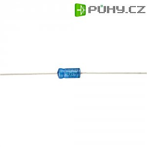 Axiální kondenzátor elektrolytický Vishay 2222 021 38108, 1 µF, 63 V, 20 %, 10 x 4,5 mm
