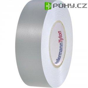 Izolační páska HellermannTyton HelaTapeFlex 1000+, 710-00611, 19 mm x 20 m, šedá