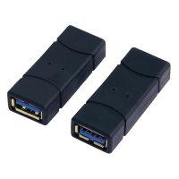 Adaptér LogiLink USB 3.0, A/A, černý