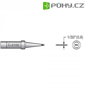 Pájecí hrot plochý 0,8 mm, PT-H7