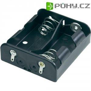 Držák na baterie 2x C s pájecími kontakty Goobay 12474, 62 x 56 x 23 mm