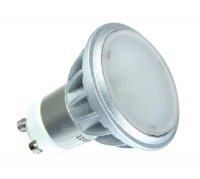 LED žárovka, bodová, 7,5W, GU10, 3000K, 480lm hliník