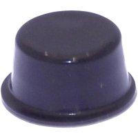 Podstavná nožka přístrojová TOOLCRAFT PD2128SW, (Ø x v) 12.7 mm x 6.2 mm, černá, 1 ks