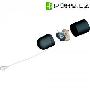 Objímka s tahovým spínačem pro E27, 1010-004.02, 230 V/50 Hz, černá