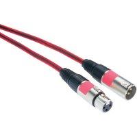 XLR kabel, XLR(F)/XLR(M), 5 m, červená