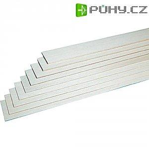 Dřevěný hranol z balsy, 10 ks, 10 x 1000 x 100 mm
