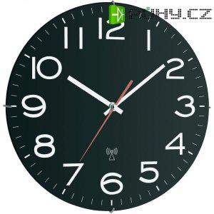 Analogové DCF nástěnné hodiny TFA 60.3509, 30,7 cm x 4,5 mm, černá/bílá/červená