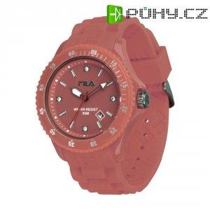 Ručičkové náramkové hodinky Carlton Quartz, silikonový pásek, tmavě růžová