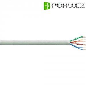 Síťový kabel F/UTP Cat 6 LogiLink Q2100U, nestíněný, 100 m, šedá