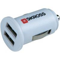 USB autonabíječka Skross, 12 V ⇔ 5 V, 1 A, dvojitá