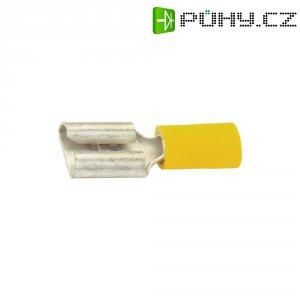 Faston zásuvka Vogt Verbindungstechnik 3907 6.3 mm x 0.8 mm, 180 °, částečná izolace, žlutá, 1 ks