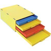 Box pro SMD součástky se 4 přihrádkami Licefa, A1-4 DISS / 4, žlutá