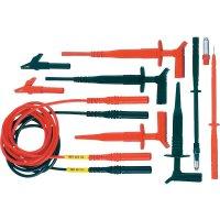 Sada měřicích kabelů banánek 4 mm ⇔ měřící hrot MultiContact Z4S-300, 1 m, černá/červená