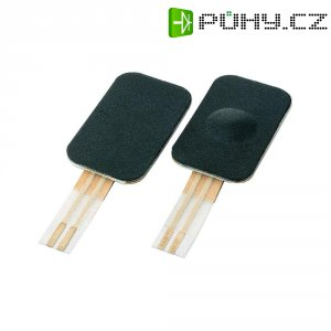 Fóliové tlačítko, 1x vyp/(zap), 24 V, 0,05 A, 5 N, černá