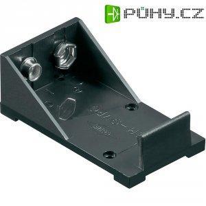 Držák na baterii s pájecími kontakty Goobay, 9 V, černá