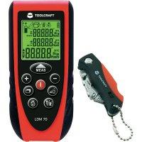 Laserový měřič vzdálenosti Toolcraft LDM 70 + mini skládací nůž