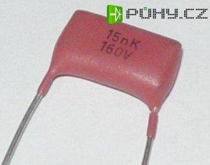 68n/630V, MPT96, RM=15mm, svitkový kondenzátor radiální