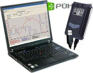 Teploměr+vlhkoměr DS100 se záznamem- USB Datalogger