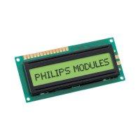 LCD displej 16x1s, 13,5 mm, černá, zelená/žlutá s podsvícením