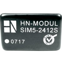 DC/DC měnič HN Power SIM5-1215S, vstup 12 V, výstup 15 V, 200 mA, 3 W