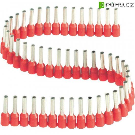 Dutinka v pásce s plastovým límcem Vogt Verbindungstechnik 460408.00050, 1,5 mm², 8 mm, červená - Kliknutím na obrázek zavřete