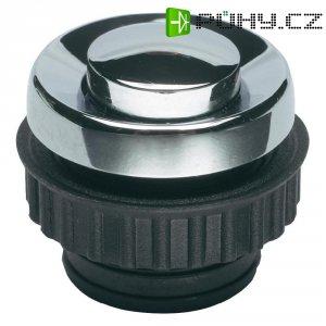 Zvonkové tlačítko Grothe Protact 62054, max. 24 V/1,5 A, chromovaná mosaz