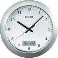 Analogové nástěnné DCF hodiny Eurochron EFWU 7700, 30 cm, stříbrná