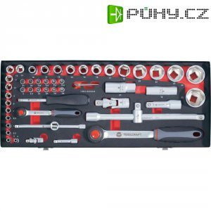 Sada nástrčných klíčů s ráčnami Toolcraft, 6,3 mm/12,5 mm, 55 ks